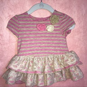 Girl's 3-6 Months Patterned Dress